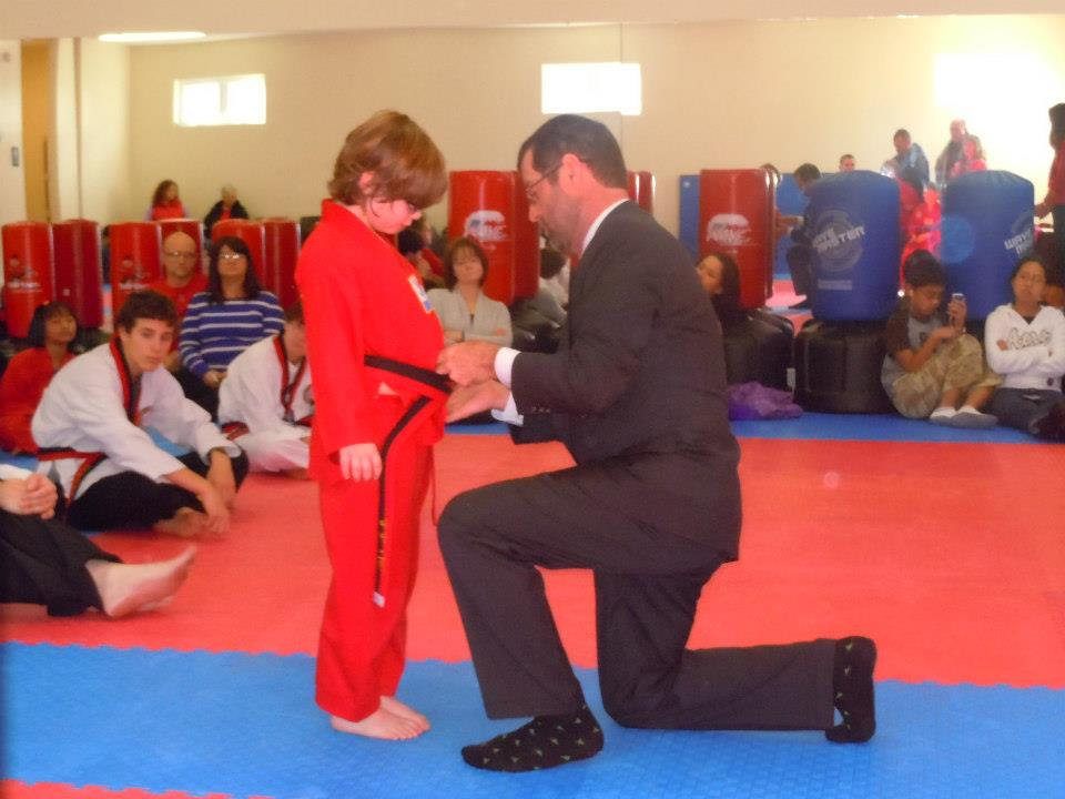 Receiving Official Embroidered Jr. Black Belt