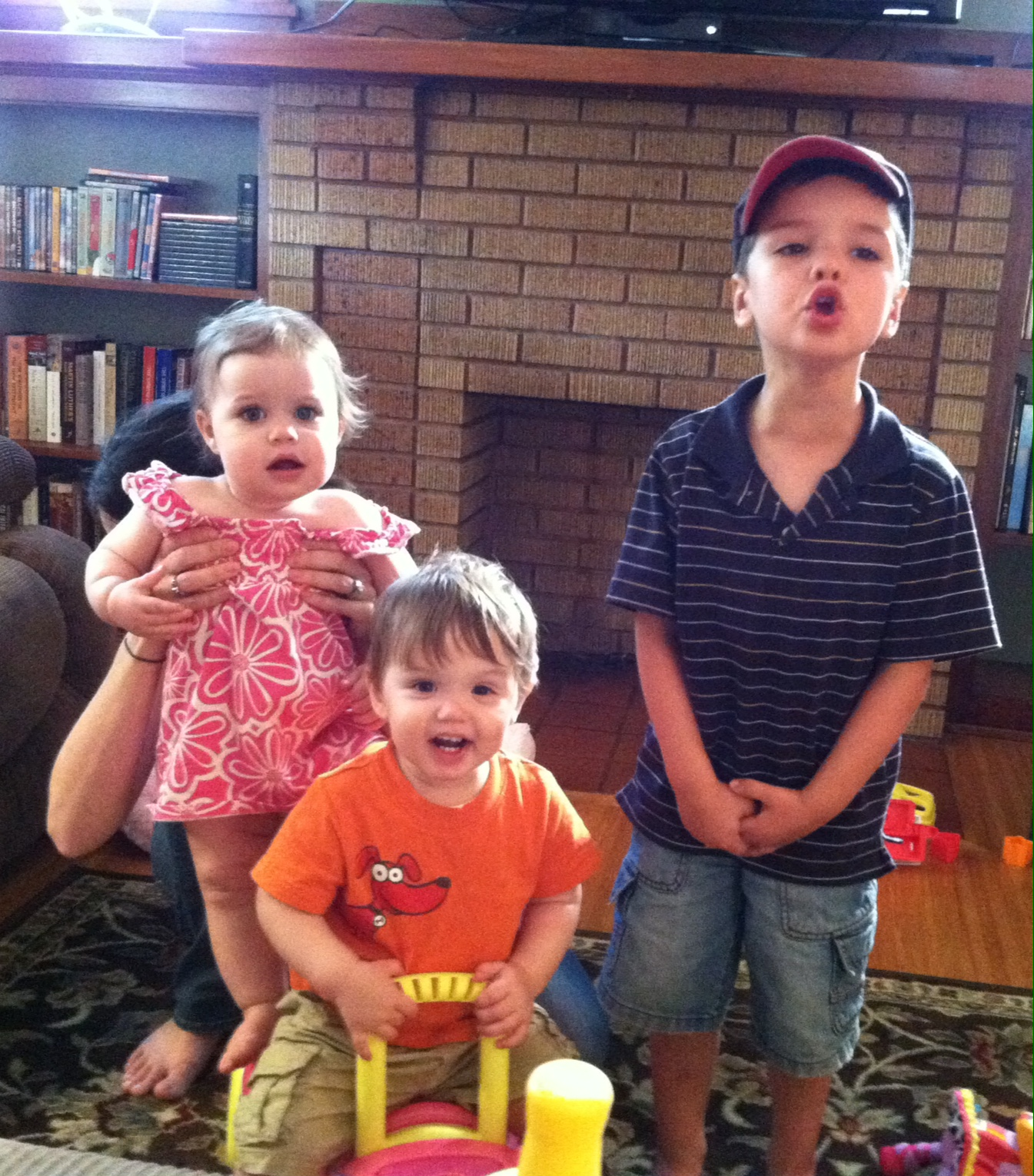 Our three grand kids - Vera, Collin & Cody -  1st New York Visit