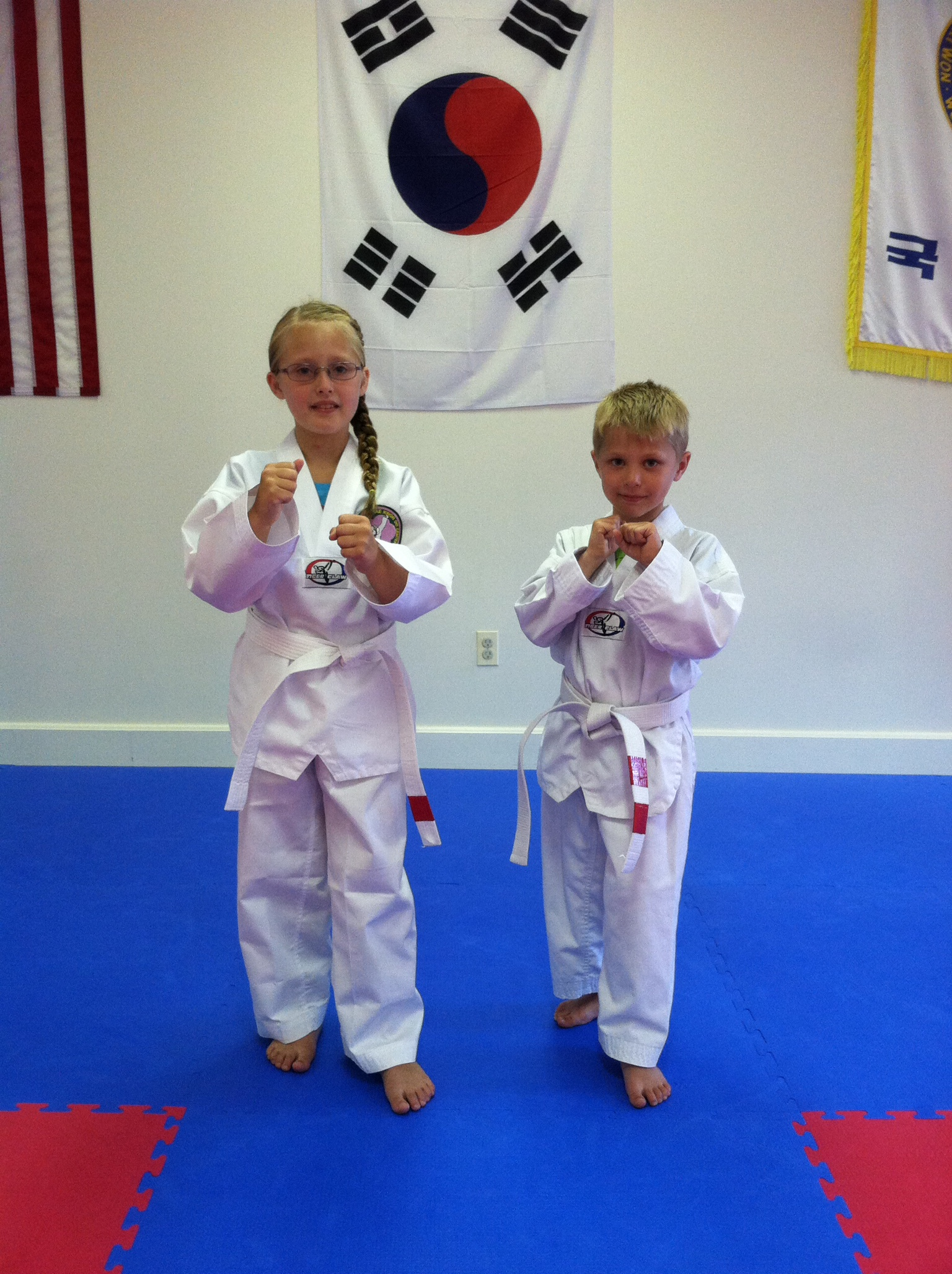 Welcome Julie and Mason to our Capital City Tae Kwon Do Family! *Then*